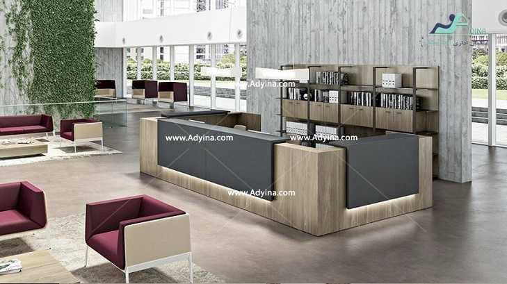 میز پذیرش-کانتر منشی-میز منشی -مدل چهارگوش شماره (1)