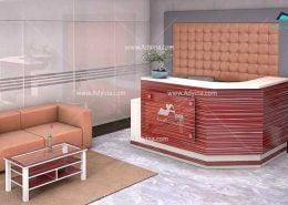 میز پذیرش-کانتر منشی-میز منشی -مدل چهارگوش شماره (10)