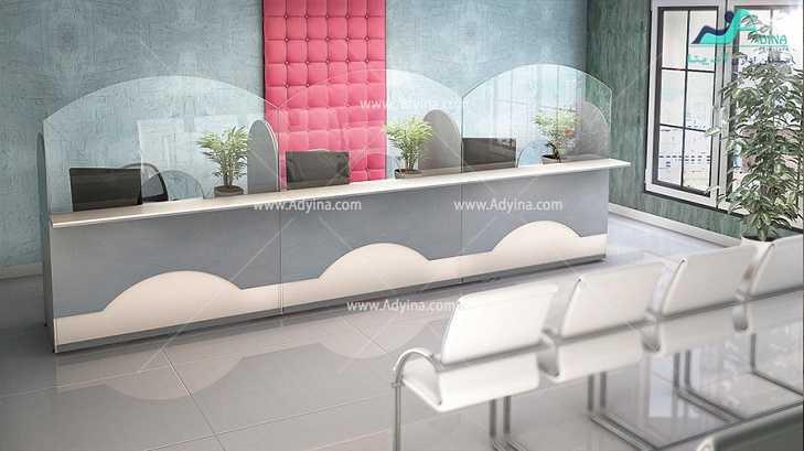 میز پذیرش-کانتر منشی-میز منشی -مدل چهارگوش شماره (12)