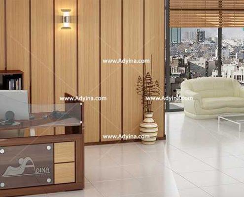 میز پذیرش-کانتر منشی-میز منشی -مدل چهارگوش شماره (13)