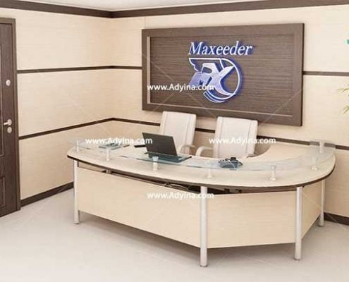 میز پذیرش-کانتر منشی-میز منشی -مدل چهارگوش شماره (15)