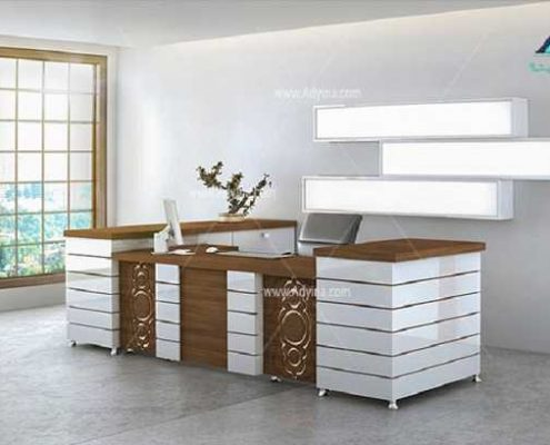 میز پذیرش-کانتر منشی-میز منشی -مدل چهارگوش شماره (18)