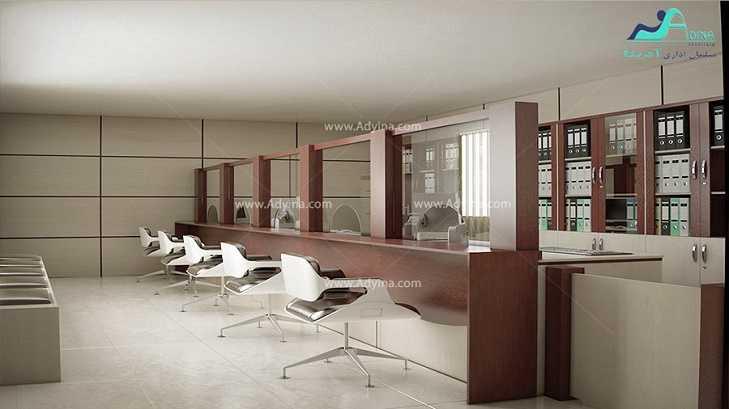 میز پذیرش-کانتر منشی-میز منشی -مدل چهارگوش شماره (19)