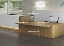 میز پذیرش-کانتر منشی-میز منشی -مدل چهارگوش شماره (2)