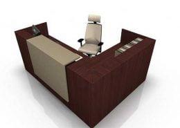 میز پذیرش-کانتر منشی-میز منشی -مدل چهارگوش شماره (20)