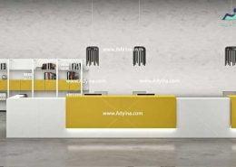 میز پذیرش-کانتر منشی-میز منشی -مدل چهارگوش شماره (3)