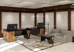 میز پذیرش-کانتر منشی-میز منشی -مدل چهارگوش شماره (7)