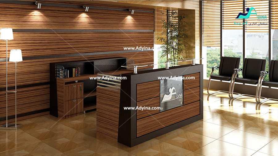 میز پذیرش-کانتر منشی-میز منشی -مدل چهارگوش شماره (8)