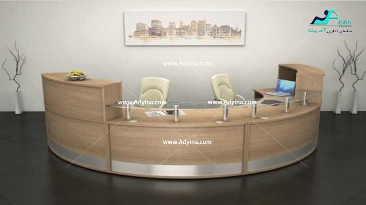 کانتر پذیرش -میز منشی-کانتر مدرن اداری مدل 1
