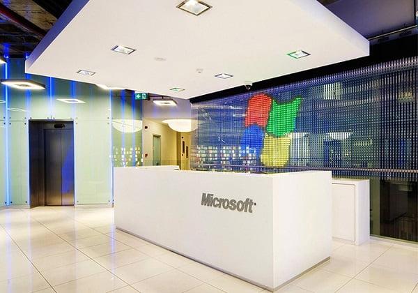 دکوراسیون اداری شرکت مایکروسافت