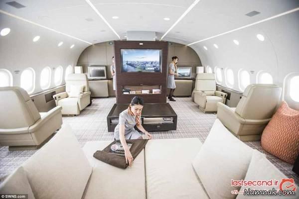 دکوراسیون لوکس در هواپیما (۱۲)