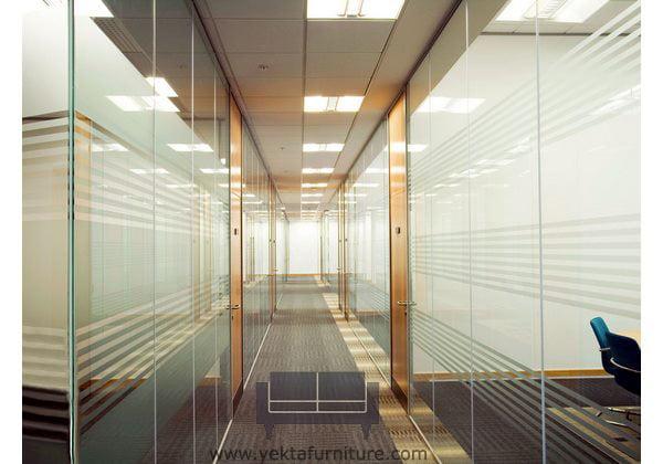 پارتیشن اداری فلزی و شیشه ای