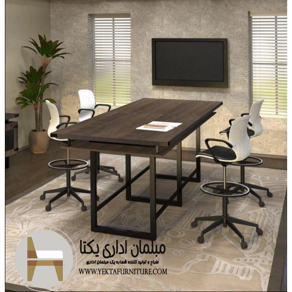 میز کنفرانس پایه فلزی مدل SB22