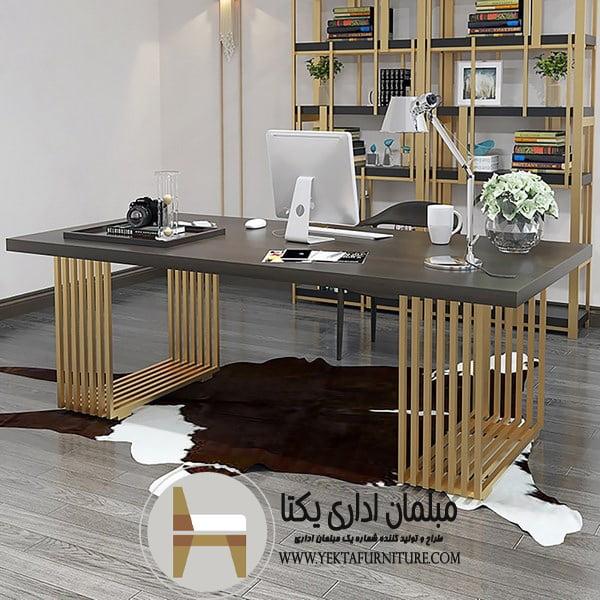 میز مدیریت پایه استیل