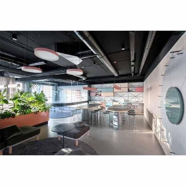 طراحی داخلی شرکت با مبلمان اداری مدرن