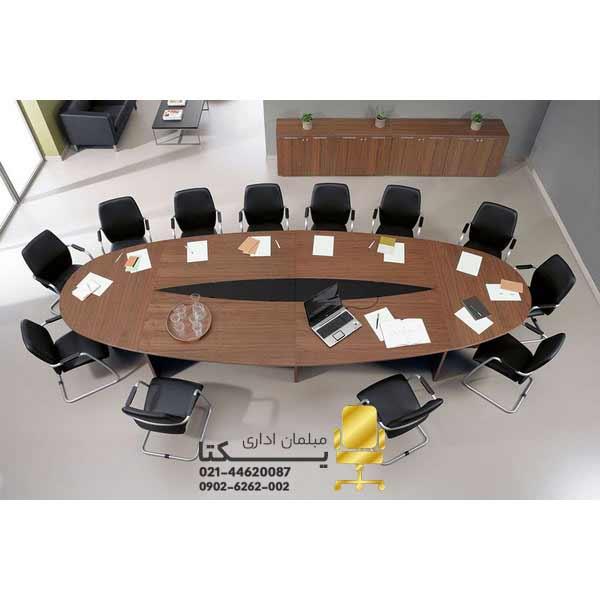 میز کنفرانس بیضی